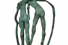 The-Couple-Medallion-green-bronze