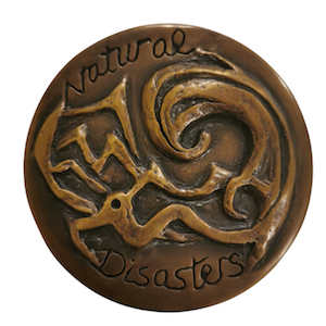 1_Natural-Disaster-Medallion-front-view-bronze