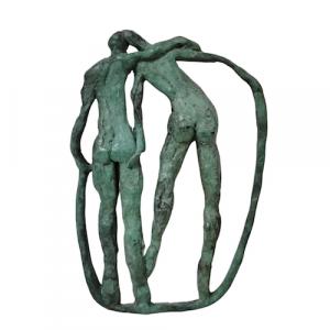 The-Couple-Medallion-green-bronze