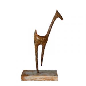 Yellow-giraffe-bronze