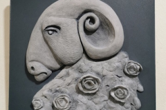 Goat-with-flowers1-grey