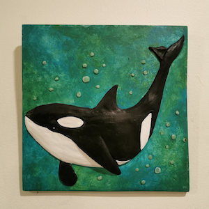 Orca-on-green