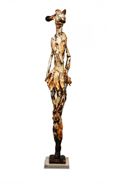 bronze sculpture, material girl