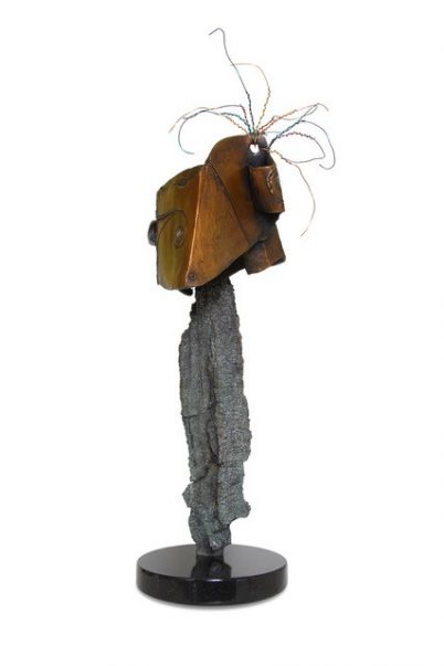 wired bronze sculpture