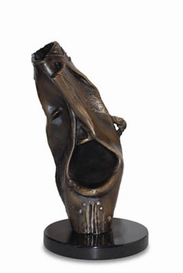 laughing bronze sculpture